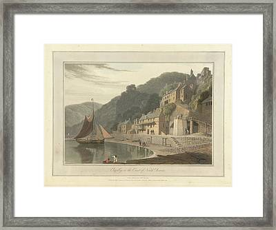 Clovelly Fishing Village And Port Framed Print by British Library