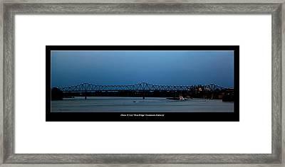 Clover H Cary Bridge Framed Print by David Lester