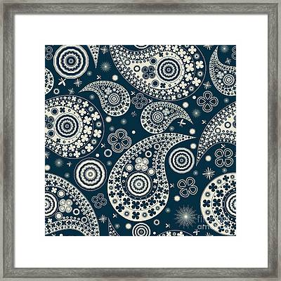 Clover Seamless Paisley Pattern Framed Print by Richard Laschon