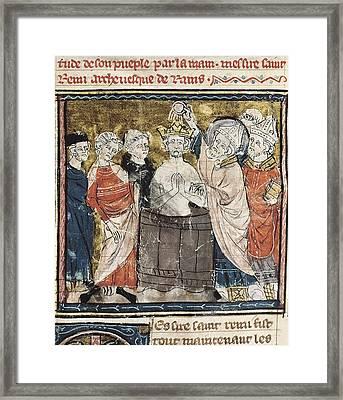 Clovis I 465-511. Merovingian King Framed Print by Everett