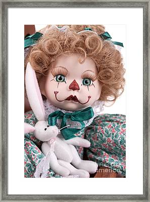 Clown Face Framed Print by Cindy Singleton
