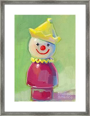 Clown Framed Print by Kimberly Santini