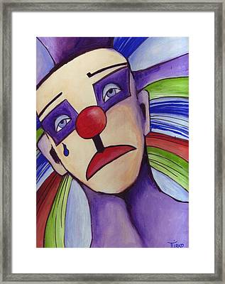 Clown Nez Rouge Framed Print by Mirko Gallery