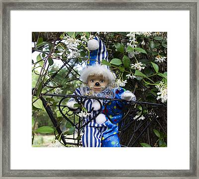 Clown Outdoors 4 Framed Print by William Patrick