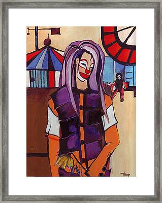 Clown Pourpre Framed Print by Mirko Gallery