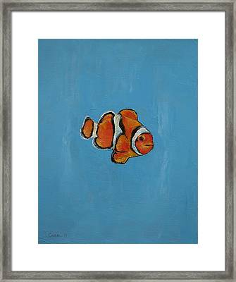 Clownfish Framed Print by Michael Creese