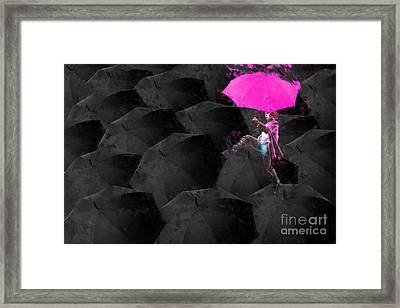 Clowning On Umbrellas 03 - 02a12 Framed Print by Variance Collections