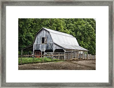 Clubhouse Road Barn Framed Print by Cricket Hackmann
