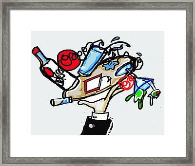 Clumsy Waiter  Framed Print by AHZ  C Waits