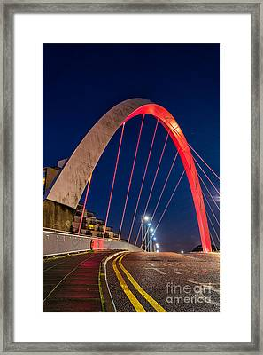 Clyde Arc Glasgow  Framed Print by John Farnan