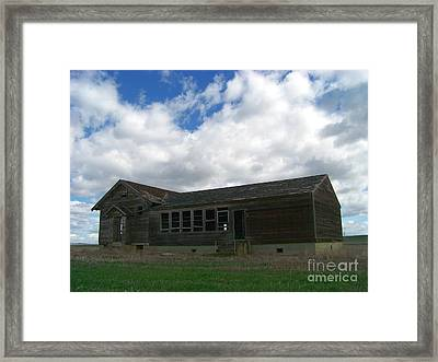Clyde Schoolhouse Framed Print by Charles Robinson