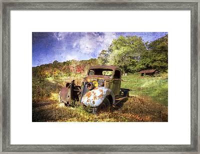 Clyde's Ride Framed Print by Debra and Dave Vanderlaan