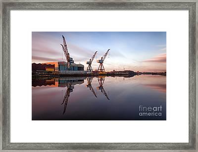 Clydeside Cranes Long Exposure Framed Print by John Farnan