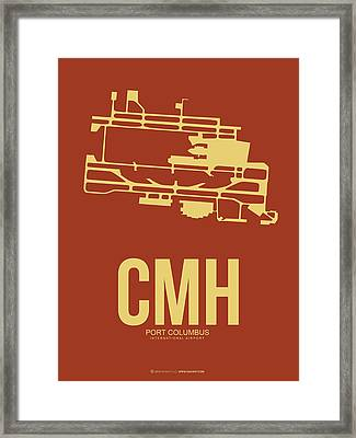 Cmh Columbus Airport Poster 1 Framed Print by Naxart Studio