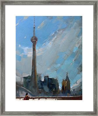Cn Tower Toronto Framed Print by Ylli Haruni