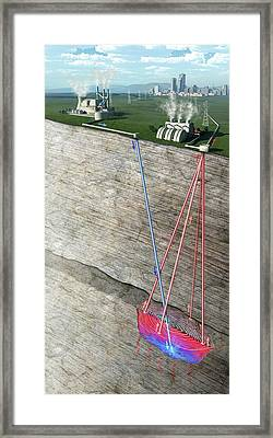 Co2 Geothermal Technology Framed Print by Nicolle R. Fuller