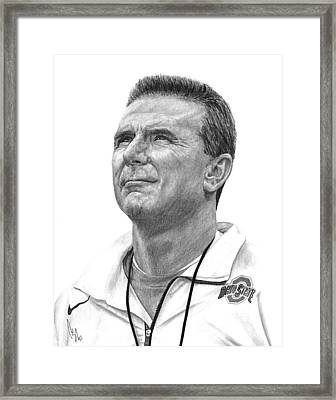 Coach Meyer Framed Print by Bobby Shaw