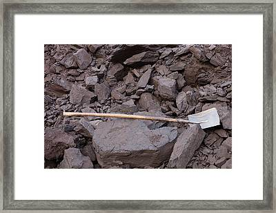 Coal Framed Print by Ashley Cooper