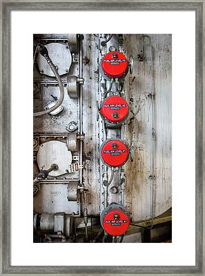 Coal-fired Power Station Valves Framed Print by Jim West