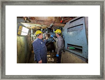 Coal-fired Power Station Workers Framed Print by Jim West