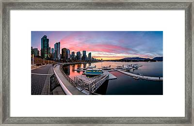 Coal Harbour Sunset Framed Print by Alexis Birkill