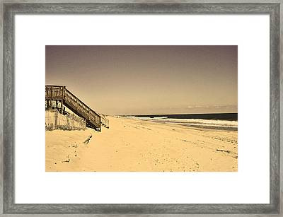 coast at Outer Banks Framed Print by M Bleichner