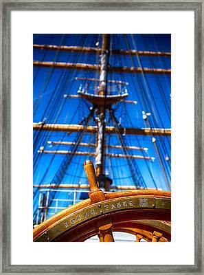 Coast Guard Eagle Framed Print by Karol Livote