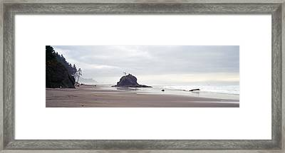 Coast La Push Olympic National Park Wa Framed Print by Panoramic Images