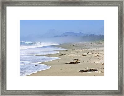 Coast Of Pacific Ocean In Canada Framed Print by Elena Elisseeva