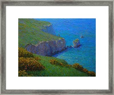Coast Tunnel Beach Framed Print by Terry Perham