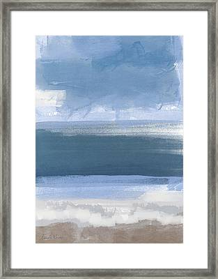 Coastal- Abstract Landscape Painting Framed Print by Linda Woods