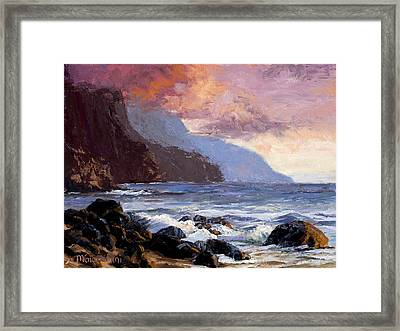 Coastal Cliffs Beckoning Framed Print by Mary Giacomini