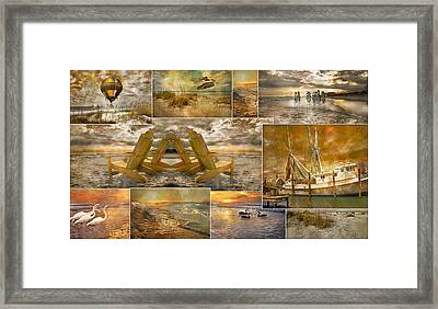 Coastal Connections Framed Print by Betsy C Knapp