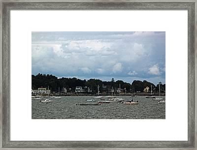 Coastal New England Village II Framed Print by Suzanne Gaff