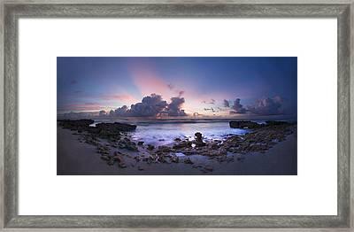 Coastal Panorama Framed Print by Debra and Dave Vanderlaan