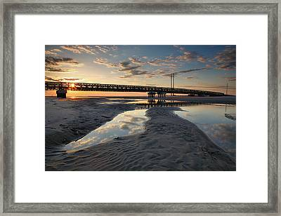 Coastal Ponds And Bridge II Framed Print by Steven Ainsworth