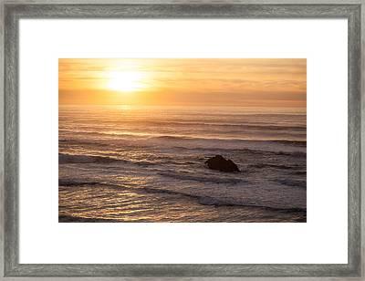Coastal Rhythm Framed Print by Mike Reid