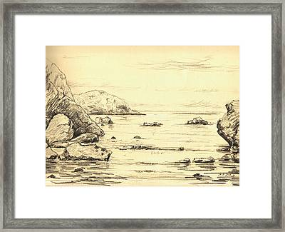Coastal Scene Cuerno Framed Print by Juan  Bosco