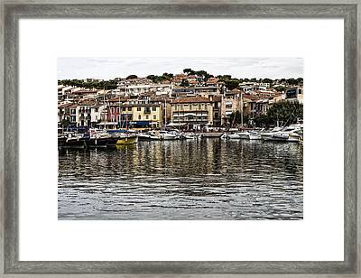Coastal Town - South Of France Framed Print by Georgia Fowler