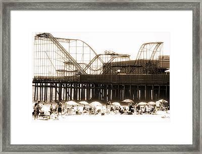 Coaster Ride Framed Print by John Rizzuto