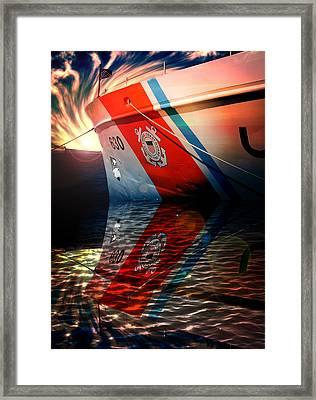 Coast Guard Uscg Alert Wmec-630 Framed Print by Aaron Berg