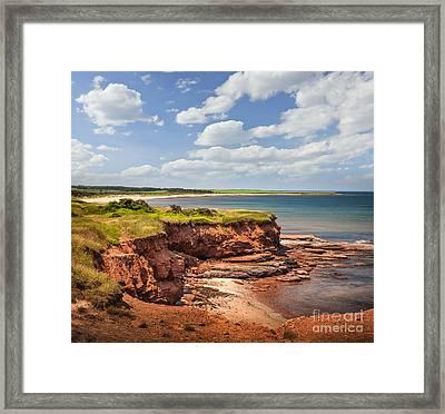 Coastline At East Point  Framed Print by Elena Elisseeva