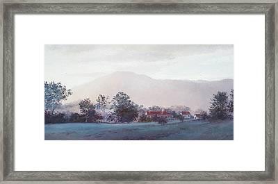 Cobargo At Dusk Framed Print by Jan Matson