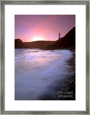 Cobble Beach Sunset Framed Print by Mike  Dawson