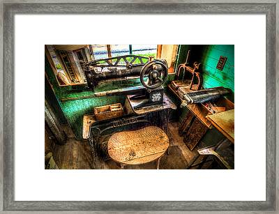 Cobblers Sewing Machine Framed Print by David Morefield