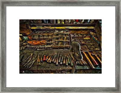 Cobblers Tools Framed Print by David Morefield