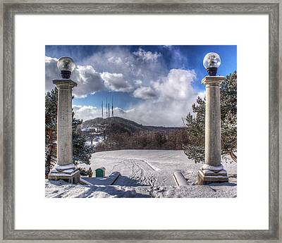 Cobbs Hill Park In Winter Framed Print by Tim Buisman