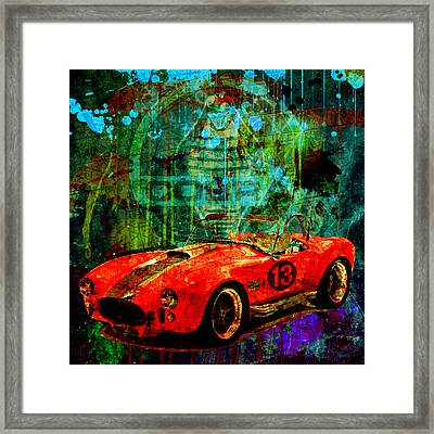 Cobra Racing Framed Print by Gary Grayson