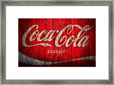 Coca Cola Barn Framed Print by Dan Sproul