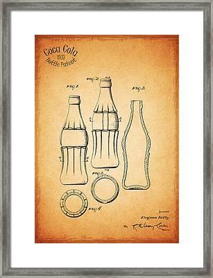 Coca Cola Bottle 1937 Framed Print by Mark Rogan